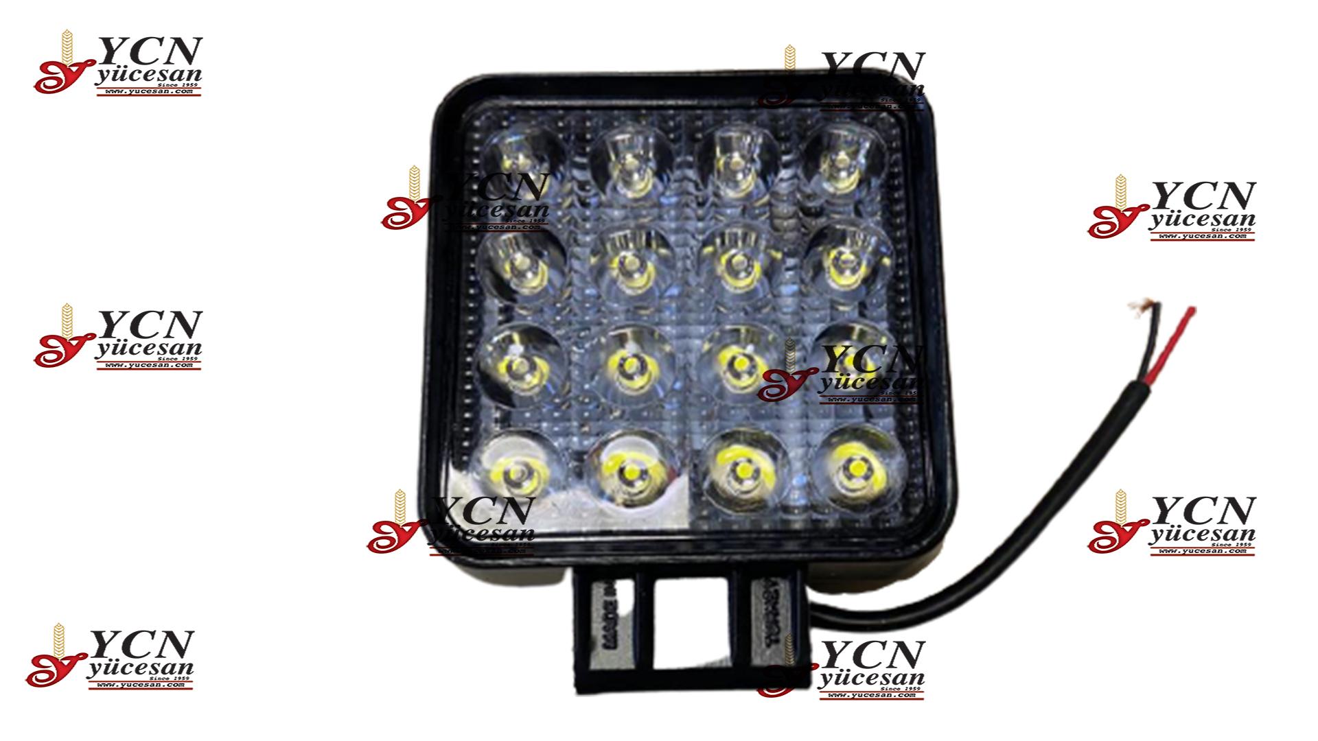 ÇALIŞMA LAMBASI (KARE 16 LEDLİ-48W)(POWER LED)